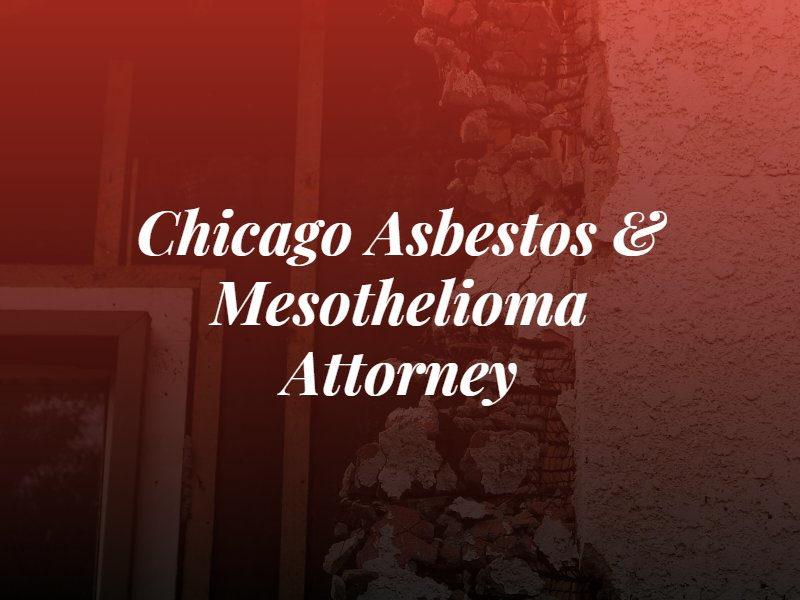 chicago asbestos and mesothelioma attorney text over a picture of an old house being torn down with asbestos in the walls